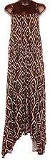 *New* Liz Lange Maternity Super-Cute Size Medium Brown Diamond Long Maxi Dress!!