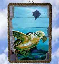 Tropical Beach Ocean 33 Wall Decor Art Prints Sea Turtle lalarry Ventage framed