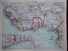 Landkarte von Guinea, Deutsche Kolonien Togo und Kamerun, Brockhaus 1901-05