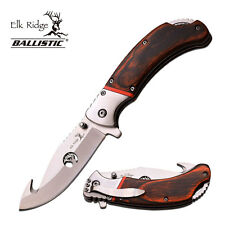 KNIFE COLTELLO ELK RIDGE 162HB DA CACCIA PESCA SURVIVOR SURVIVAL FOLDING CAMPING