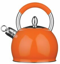 Premier Housewares 3 Litre Whistling Kettle - Orange new hobs stove top boil tea