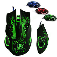 2400DPI LED Óptico 6D USB Wired Gaming juego Ratones Game Mouse For PC Laptop