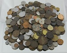 6.75 LBS of Foreign Coins Globe Spanning, Many 1800's