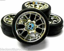211000140 1/10 Scale On Road Wheel Tyres Nitro RC Car Chrome Soft Tree V2