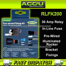 Ring RLFK200 Pre-Wired 12v Car Driving Fog Lamps Lights Wiring Kit