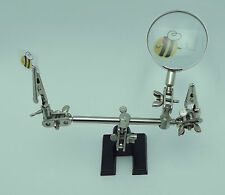 THIRD HAND Jewelry Tool with MAGNIFICATION Holds Items for Gluing Soldering
