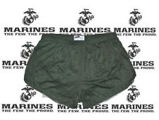 Olive Drab Nylon Running / Track / P.E. / PT Shorts by Soffe Men's Medium!