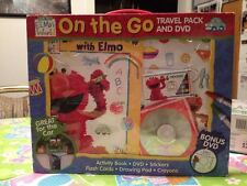 Sesame Street Elmo's World Elmo On The Go Car Travel Pack & DVD KIT & Wipes Case
