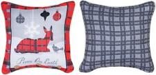 """WOODSY WONDERLAND PEACE Christmas Throw Pillow, 12"""" x 12"""", by Manual Weavers"""