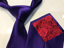 "Paul Smith Purple Silk Tie ""MAINLINE"" Classic 9cm 100% Silk Tie Made in ITALY"