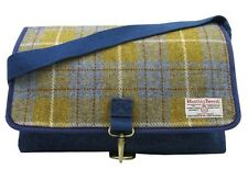Authentic Harris Tweed Crossover Despatch Bag-Denim/Giallo