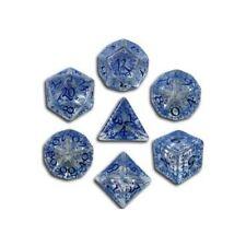 Q-Workshop Elven Translucent Blue Dice SELV11 Set of 7 POLYHEDRAL Gaming DnD