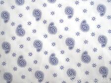 0,5 m Stoff@Baumwolle Paisley@Punkte dunkelblau Ökotex Standard blau Blümchen