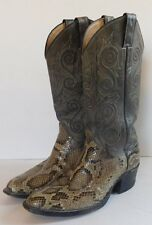 JUSTIN Boys Youth Cowboy Western Boots Genuine Snakeskin Leather Size 7 D