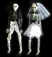 Bride Groom Skeleton Death Scary Wedding Decoration Hanging Halloween Props 16""