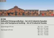 Auhagen 42506 NEW HO LOW RELIEF CARD BUILDINGS. SET OF 6 INDUSTRIAL BUI