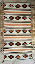 Vintage Native American Navajo Wool Double Saddle Blanket Rug