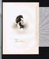 James Thomas Fields (1817-1881) -Poet -1855 Steel Engraved Print