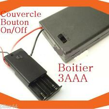 Boitier Bloc Support Coupleur 3 Accu AAA R3 R03 Lr3 4.5V 3.6V Bouton On Off