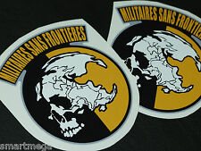 Metal Gear Solid Peace Walker MSF,  Sticker  , 90 mm x 80 mm - Set of 4 Stickers