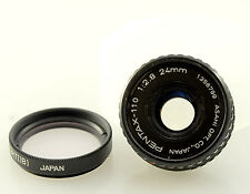 24mm 2.8 lens for Pentax Auto 110 film SLR, adapt to digital, Pentax Q, M4/3