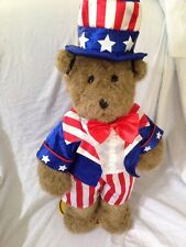 Build a Bear Patriotic Uncle Sam Boy Outfit Costume USA Flag BABW 4th of July
