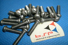 3/16 w X 3/4 ROUND HEAD SLOTTED STEEL MACHINE SCREWS SELF COLOUR QTY 25