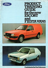 Ford Fiesta Van & Escort Mk3 Van 1981 UK Market Salesman's Training Brochure