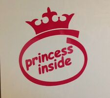 Princess Inside Crown Castle Disney Royal Prince Car Truck Window Decal Sticker