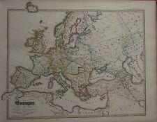 1846 SPRUNER ANTIQUE HISTORICAL MAP ~ EUROPE 18th CENTURY BRITISH ISLES SWEDEN