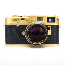 Leica M4-2 Oskar Barnack Gold Film Camera 100-0711 SN 1527679 With 50mm 1.4 Lens