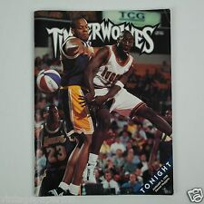 Bobby Jackson MN Timberwolves Game Program - January 3, 1998 - Denver Nuggets