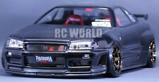 1/10 RC Car Body Shell NISSAN SKYLINE GT-R R34 V-Spec Drift  W/ Light Buckets
