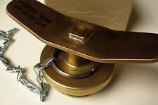 Military Solid Brass Fuel Filler Gas Cap - 5-11-1229-4A, 7310-01-280-0458, NEW