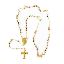 Gold Layered Eccentric 3 Tone Beads Rosary - Style2