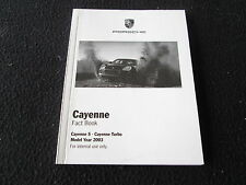 2003 Porsche Cayenne FACT Book Dealer-only Cayenne S & Turbo Internal Brochure