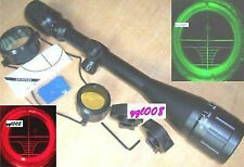NEW 6-24X50 AOE R+G Hairscross ILLUMINATED rifle scope with free rings mount