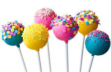 100 X Kunststoff Lollipop klebt Sucker Stick Candy Chocolate Cake machen weiß