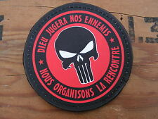 SNAKE PATCH PVC - ROUGE - PUNISHER dieu jugera nos ennemis AIRSOFT PAINTBALL
