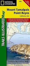 National Geographic Trails Illustrated CA Mount Tamalpais/Point Reyes Map 266