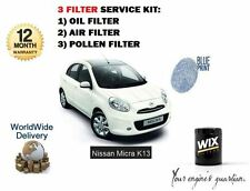 FOR NISSAN MICRA K13 1.2 2010-  NEW OIL AIR POLLEN CABIN FILTER KIT OE QUALITY