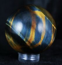 *** NATURAL TIGER EYE CRYSTAL SPHERE BALL TIGER'S EYE POLISHED HEALING 39MM ***
