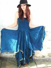 STUNNING RECYCLED SILK SARI PIXIE DRESS FAIRY ELF PAGAN SZ 6/16