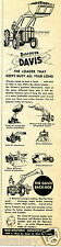 1957 Print Ad of Mid Western Industries Inc The Davis Tractor Loader
