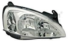 Black Headlight Front Lamp Left Fits OPEL Combo Corsa C Vita 2000-2005