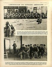 Instruction Officers American Expeditionary Force Training camp USA War 1917 WWI