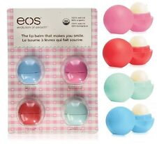 New EOS 4 Pack Lip Balm Organic Smooth Sphere 4 Flavors