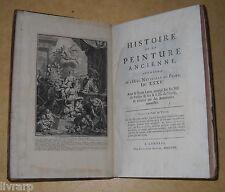 PLINE  LA PEINTURE ANCIENNE IN FOLIO 1725 2 gravures a pleine page PICART  RARE