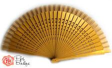 NUOVA Ventola per danza flamenco spagnolo legno vero oro fretwork
