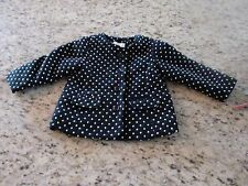 NEW Cat & Jack Black & White Polka Dot Toddler Girls Coat Size 5T